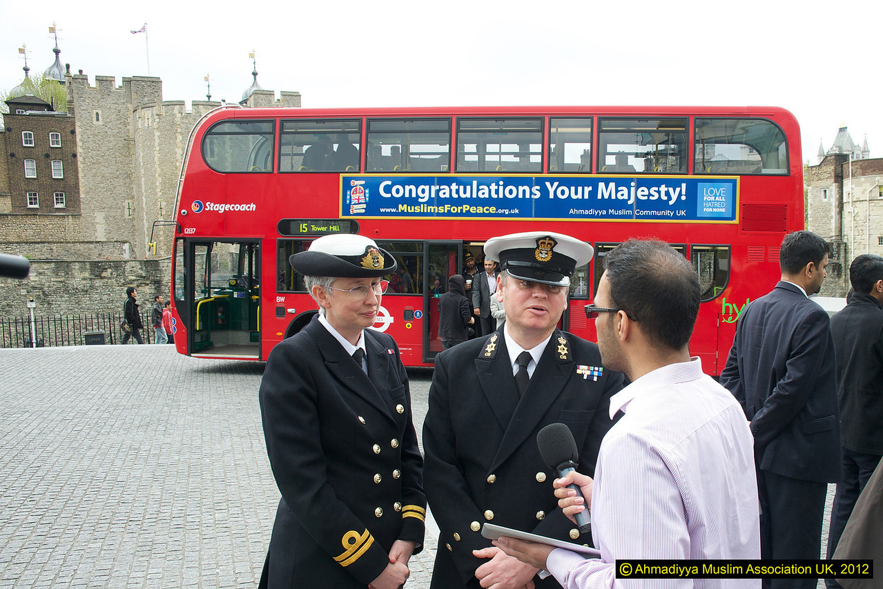 Members of the Royal Navy being interviewed by MTA UK