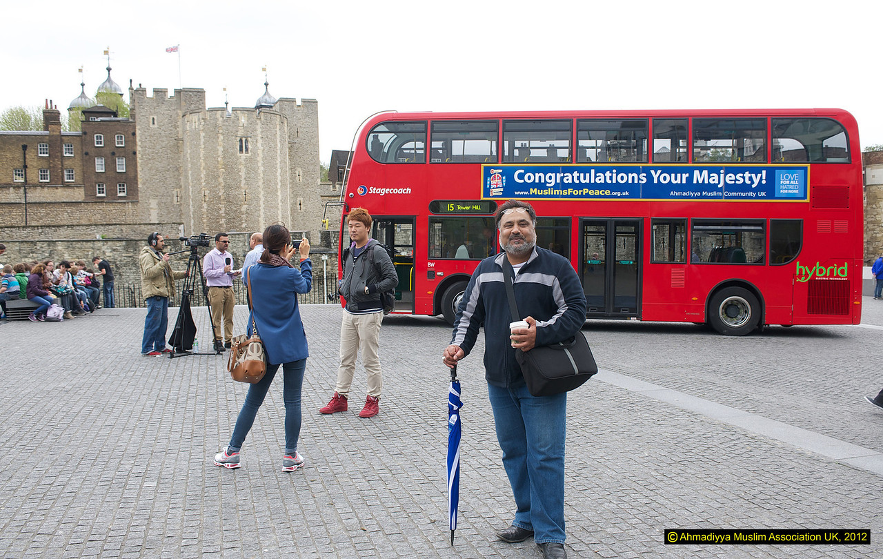 Safdar Ali, Head of MTA UK joining the tourists for his photo!