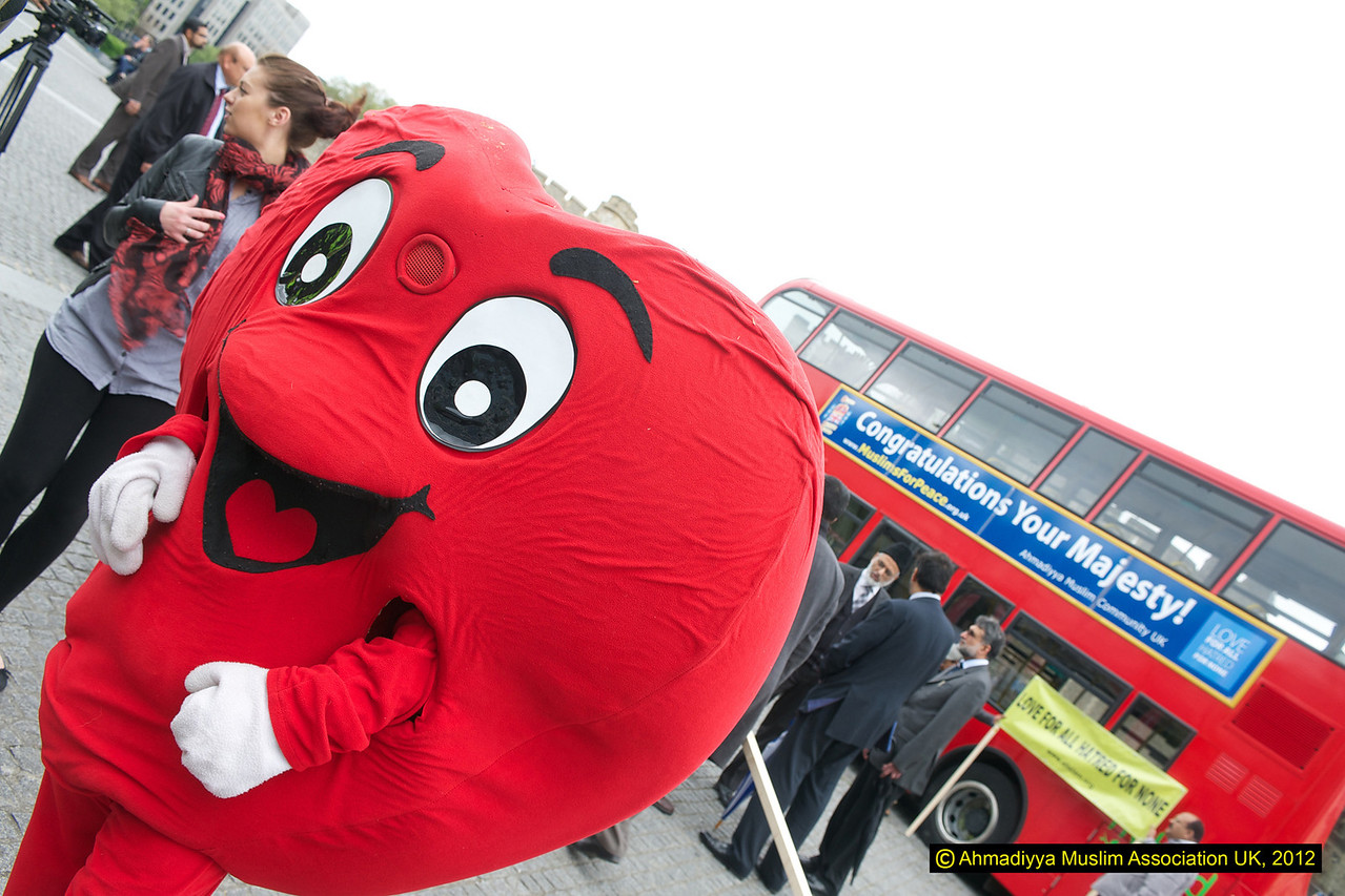 One of the charities mascots joining in the launch - this is just a few days before the Jubilee charity Walk at the Tower of London
