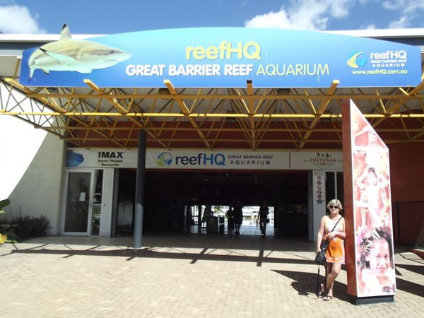 At the entrance to the Aquarium