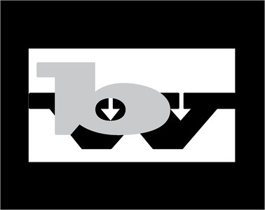 """Logos. I love 'em!!!!! This black and white design was an early assignment requiring the use of two letters to make an abstract design. The """"w"""" actually has the arrows as we were not allowed to alter the shape of the letter with the various tools in Illustrator."""
