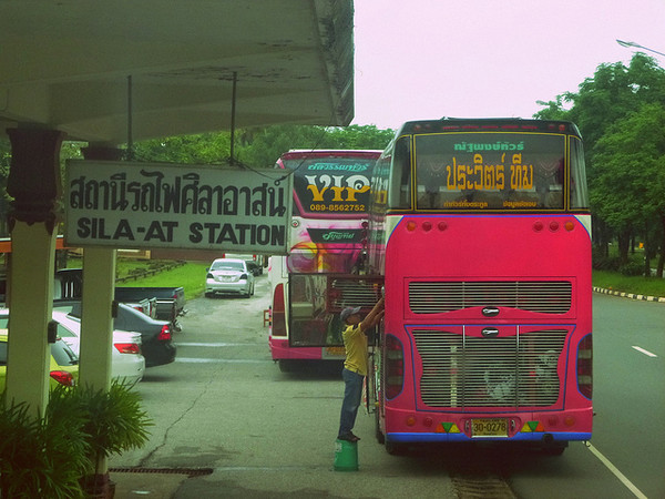 The bus we ended up boarding to finish our trip to Chiang Mai, Thailand.