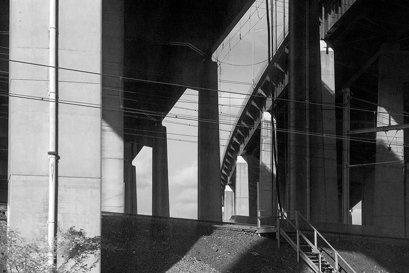 Rail Line Under I-95<br /> ©2020 Peter Aldrich