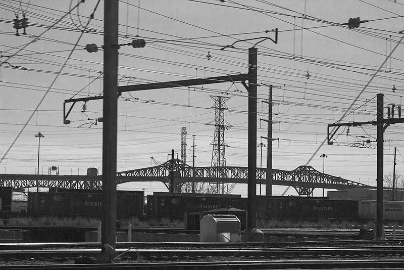 Train window view-NJ Meadowlands<br /> ©2018 Peter Aldrich