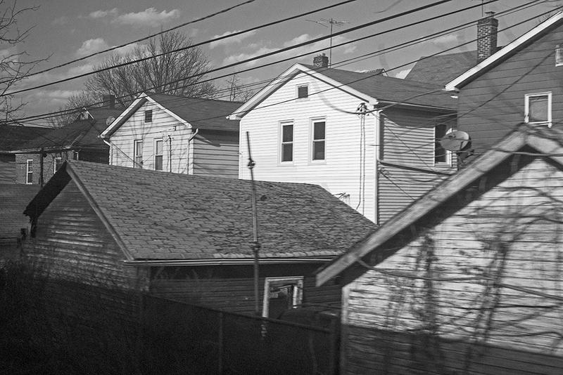 Houses along tracks-East Orange<br /> ©2017 Peter Aldrich
