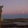 Moonrise over grade crossing near Steins, NM.