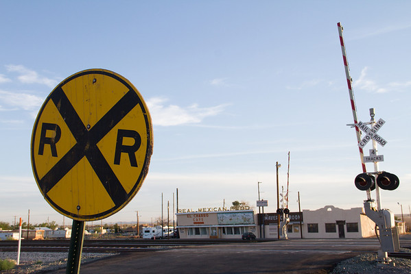 Grade crossing, Lordsburg, NM.