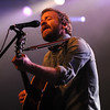 Trampled By Turtles front man Dave Simonett performs during the band's appearance Wednesday at the Verizon Wireless Center. Pat Christman