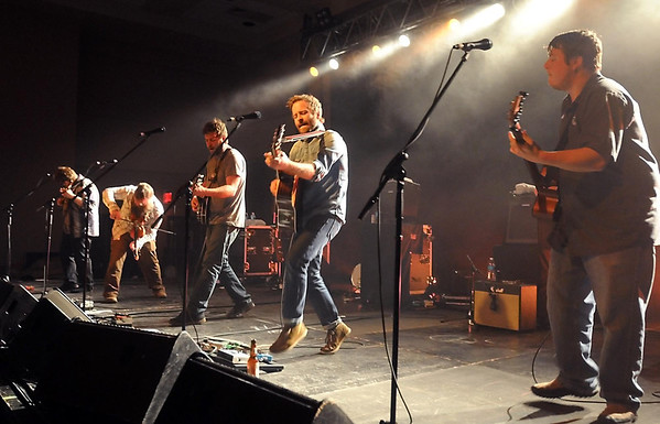 The Duluth-based bluegrass band Trampled By Turtles performs at the Verizon Wireless Center during an unusually busy Wednesday night in downtown Mankato. Pat Christman