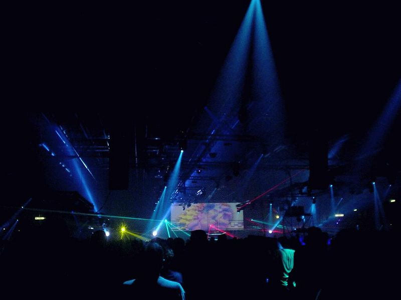 Cosmic gate in da house!<br /> Nice visual fx with lasers and lights and fire, oh my!