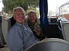 Mirabelle with Bill & JoAn on the bus from Portsmouth to Southampton