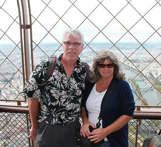 top of the Eiffel Tower, Paris