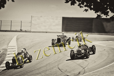 Laguna Seca field of 4 crop - sepia 7423