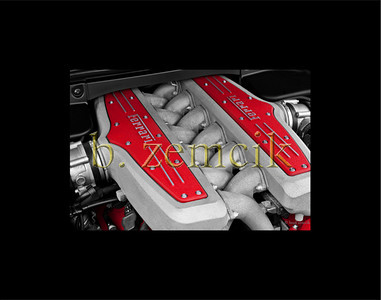 Ferrari Engine 11x14 black mat