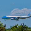 Air Force One landing in Orlando after shootings