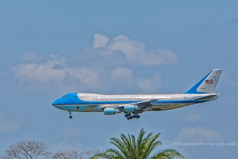 Air Force One and the President landing in Orlando