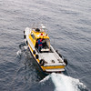 A commercial pilot boat coming out of Cartagena, Colombia to meet a cruise ship.