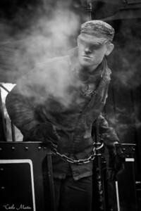Conducteur du petit train à vapeur de St-Valéry sur Somme
