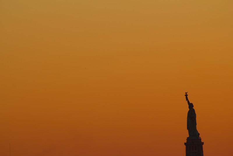 The Lady in Orange Light