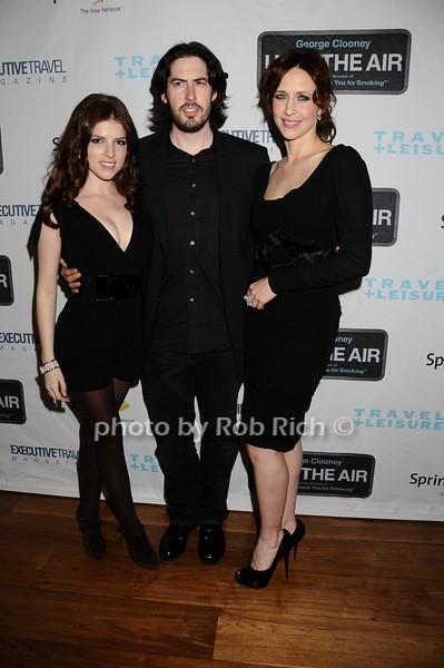 Anna Kendrick, Jason Reitman, Vera Farmiga<br /> photo by Rob Rich © 2009 robwayne1@aol.com 516-676-3939