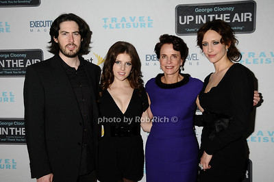 Jason Reitman, Anna Kendrick, Nancy Novogrod, Vera Farmiga photo by Rob Rich © 2009 robwayne1@aol.com 516-676-3939
