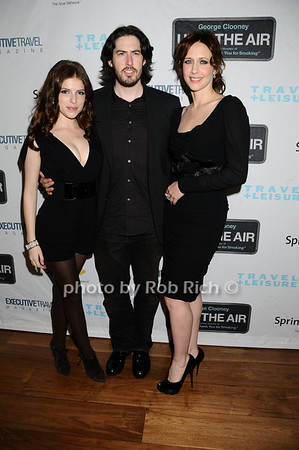 Anna Kendrick, Jason Reitman, Vera Farmiga photo by Rob Rich © 2009 robwayne1@aol.com 516-676-3939