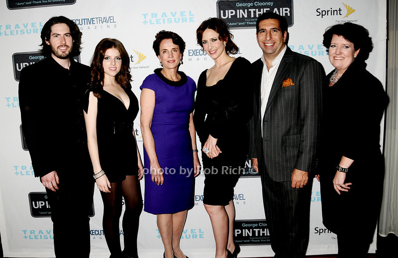 Jason Reitman, Anna Kendrick, Nancy Novogrod, Vera Farmiga, J.P. Kyrillos,Janet Libert<br /> photo by Rob Rich © 2009 robwayne1@aol.com 516-676-3939