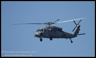 Navy helicopter flew over the whale watching boat, San Diego County, California, January 2015