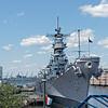 USS Wisconsin (BB-64) As Seen from Pier