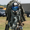 F-18 pilot's helmet and G-suit.