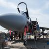 Rob climbs into an F-15.