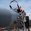 Sarah checks out the F-15.