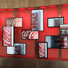 Entrance area at World of Coca-Cola: Had to get a pic of the Diet Coke images.