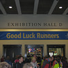 Entering the Boston Marathon Expo at the Hynes Convention Center, Boston, MA