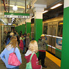 The subway Green Line in Boston, MA