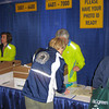 Mary picking up her packet/bib number at the Hynes Convention Center, Boston, MA