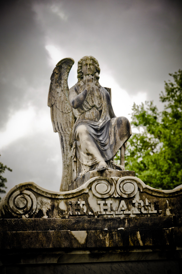 Angel watching over LaFayette Cemetery.