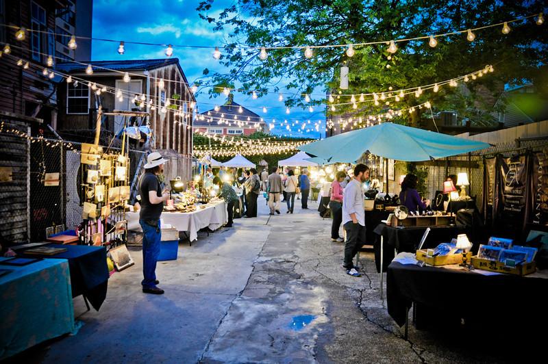 Artist market on French Street.
