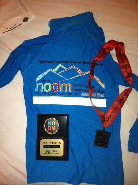 North Olympic Discovery Marathon - Sequim, WA<br /> Shirt and finisher medal