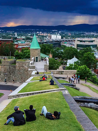 """Storm Watching"" from the Battlements - Quebec City"