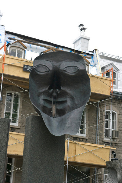 Sculpture in downtown Quebec