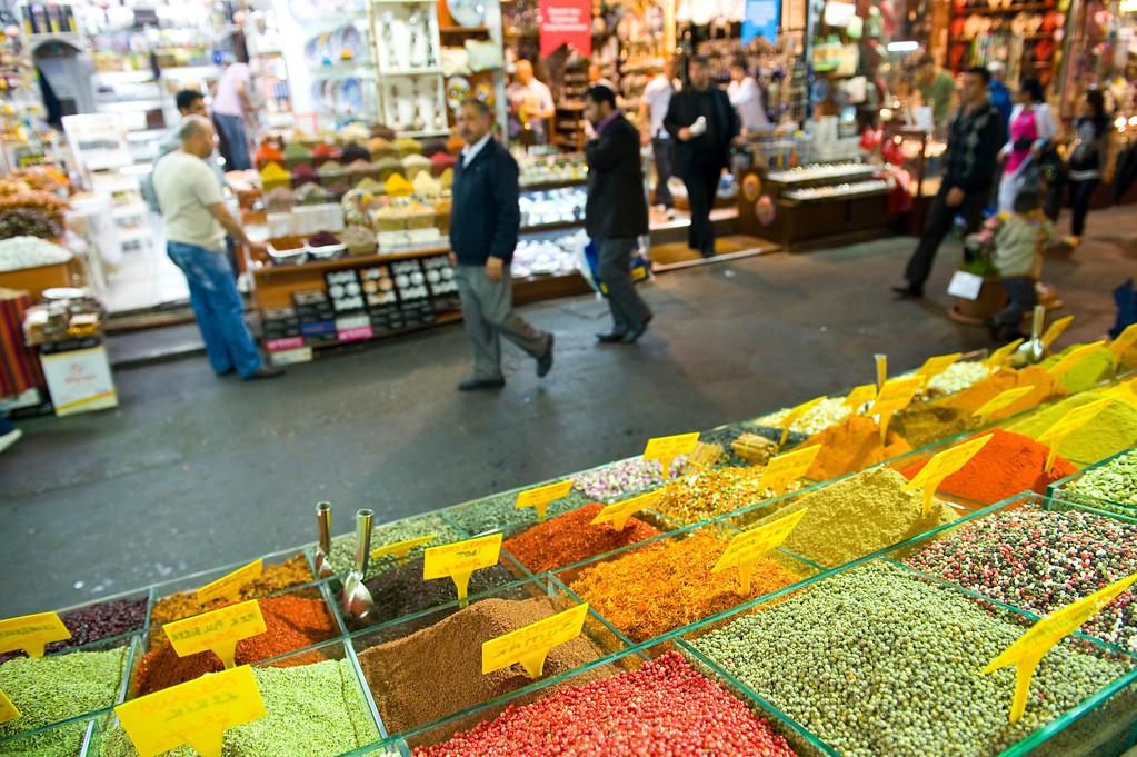 Spice Market in Istanbul Turkey.