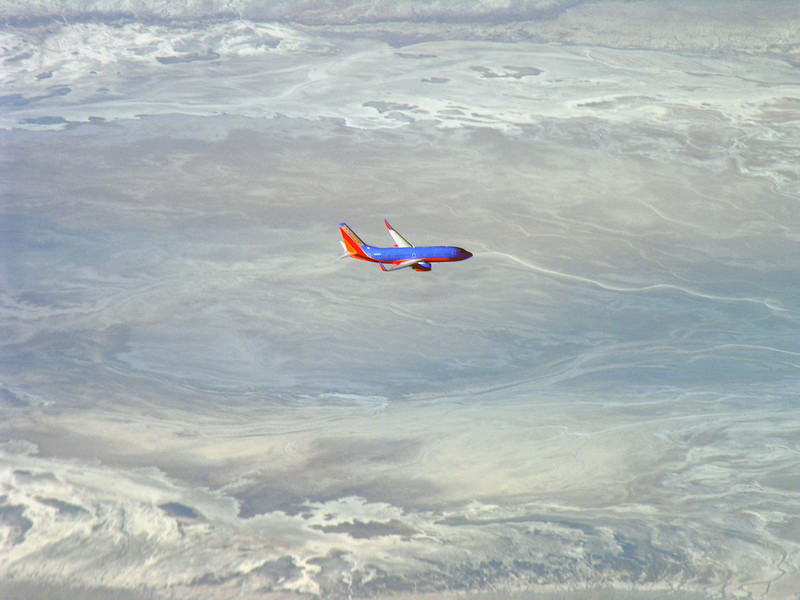 In Flight over death valley