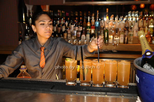 signature cocktails<br /> photo by Rob Rich © 2009 robwayne1@aol.com 516-676-3939