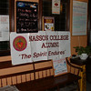 Nasson banner proudly hoisted in the restaurant's foyer
