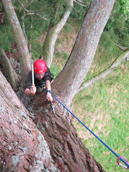 Step three - climbing first pitch