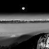 """Moonset over the Pusch Ridge Wilderness""<br /> Santa Catalina Mountains, Arizona"