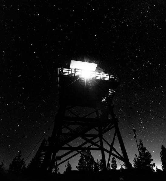 """Fire Lookout: 3AM""<br /> East Butte Lookout, Oregon<br /> 2013"