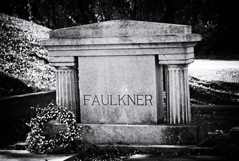 William Faulkner's Grave<br /> Oxford, Mississippi