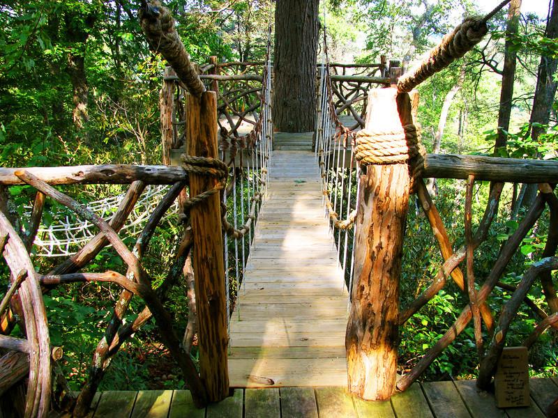 Bridge and treehouse